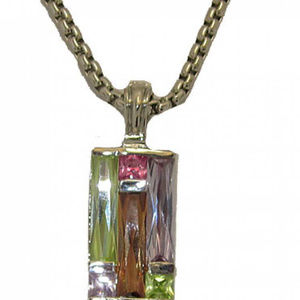 Stain Glass Window Pane Color Block Pendant